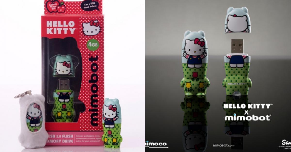 Mimobot chào hàng USB Hello Kitty