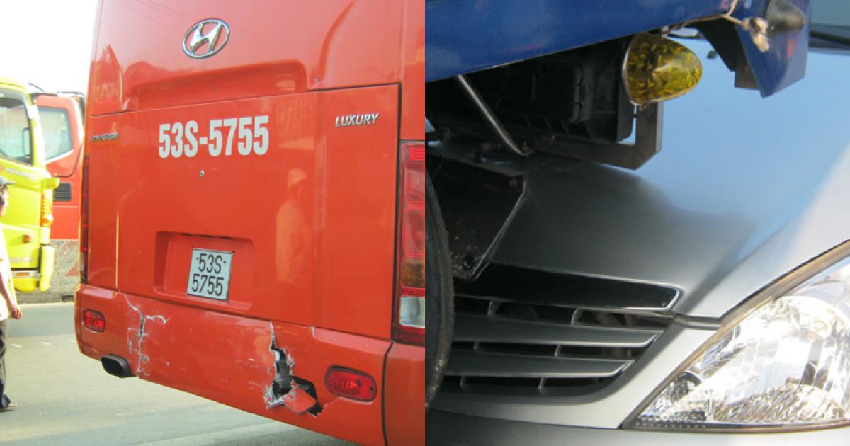 Tiền Giang: 5 xe ô tô đâm nhau liên hoàn trên quốc lộ 1A
