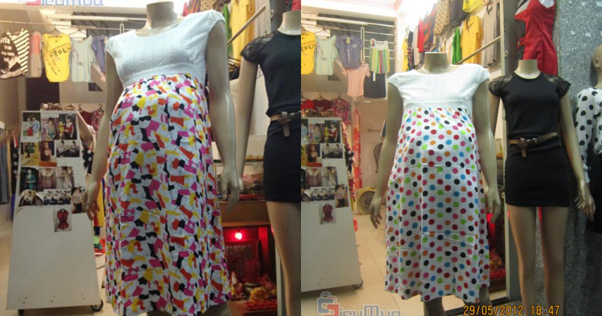 Đầm bầu dành cho phụ nữ mang thai giá chỉ có 132.000đ, chất liệu vải cotton thoáng mát, tạo cảm giác thoải mái cho người mặc.