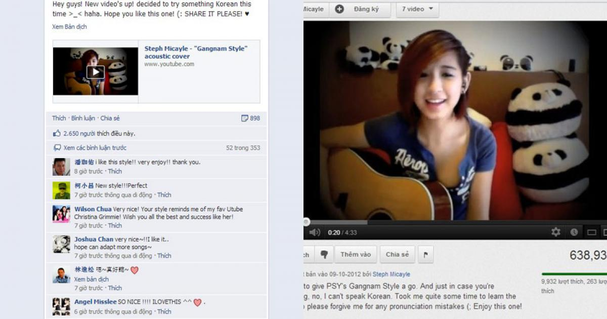 Thành hot girl vì cover Gangnam Style kiểu acoustic