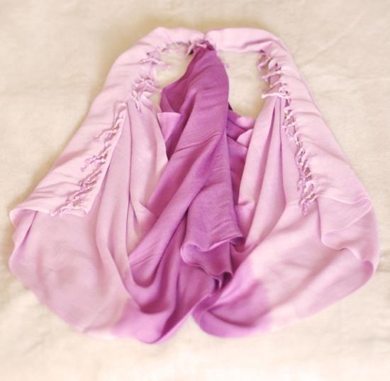 Áo khoác nữ tính từ khăn quàng cổ - Hình 6