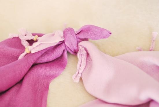 Áo khoác nữ tính từ khăn quàng cổ - Hình 5