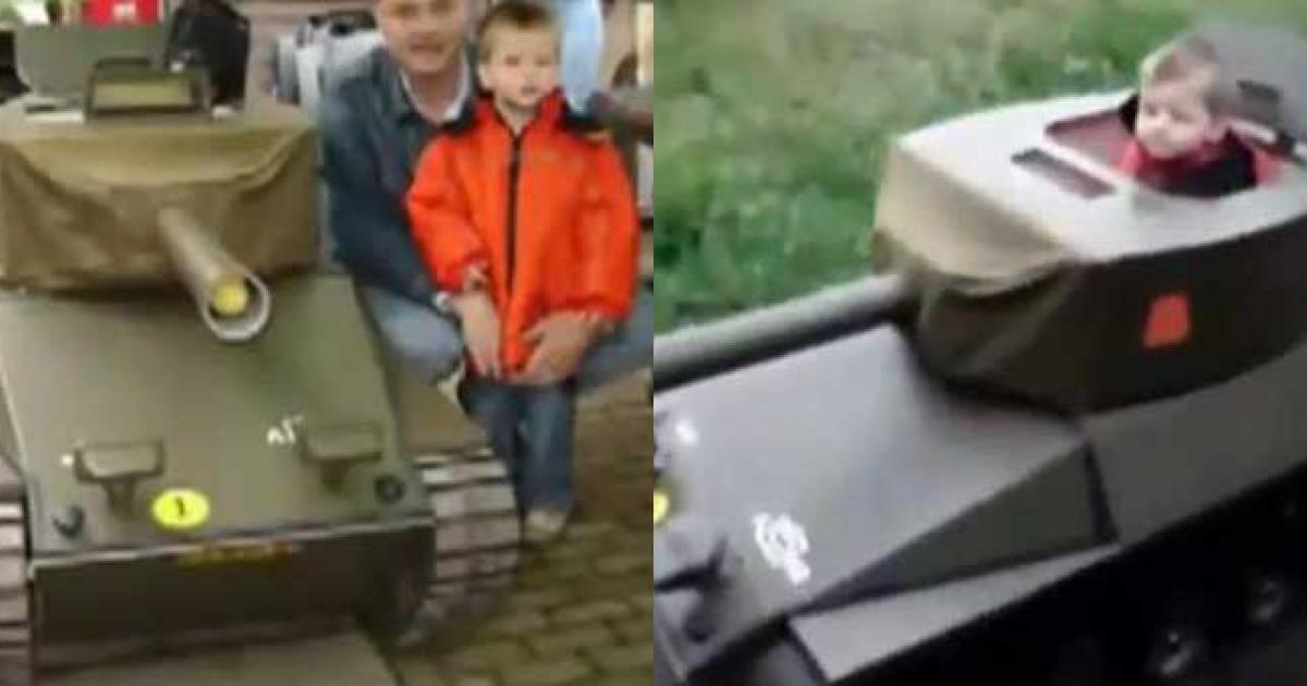Độ xe lăn thành xe tăng làm quà cho con trai