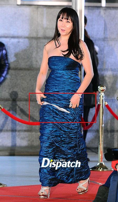 """""""Can Lộ Lộ xứ Hàn"""" kéo váy vô duyên"""