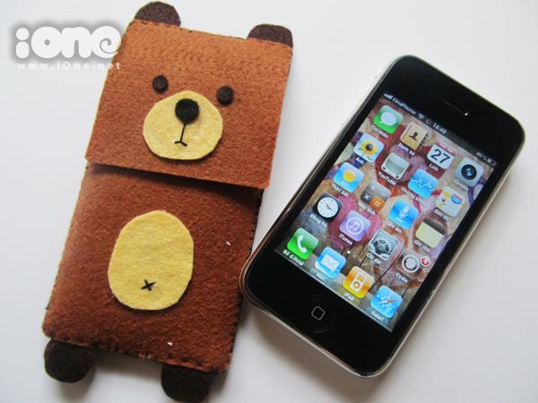 Bao điện thoại gấu béo đựng iPhone