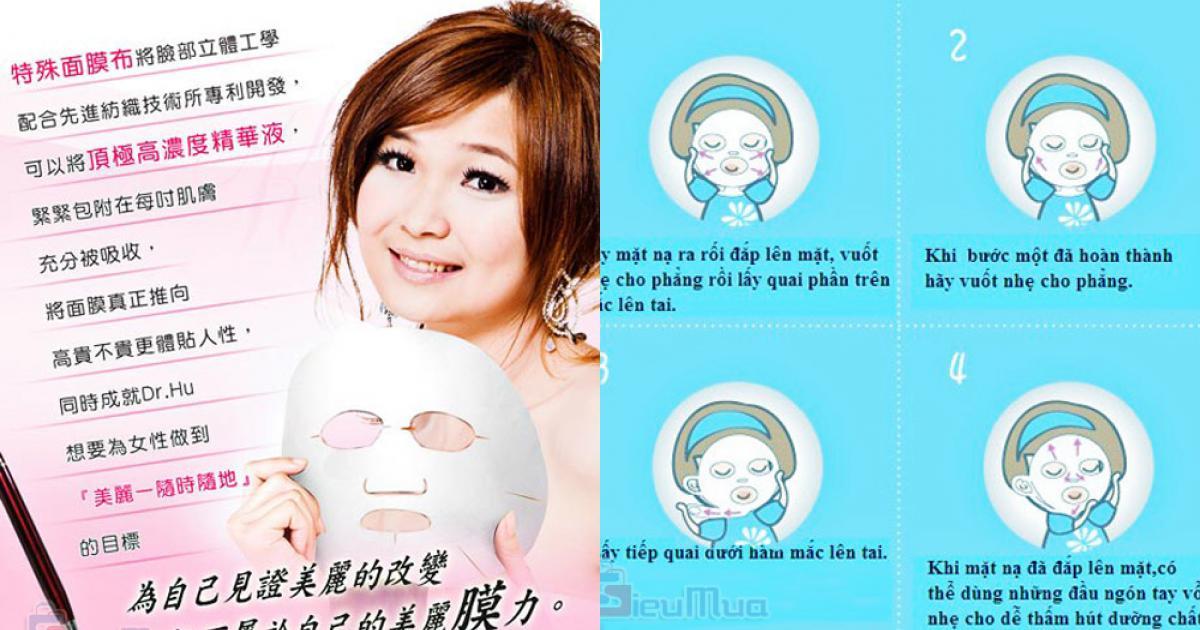 Bộ 3 mặt nạ collagen Dr.Hu giá chỉ có 50.000đ, cho gương mặt rạng rỡ, tươi trẻ và kéo dài tuổi thanh xuân.