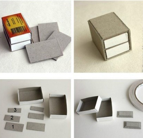Мебель из спичечных коробков своими руками инструкция 99