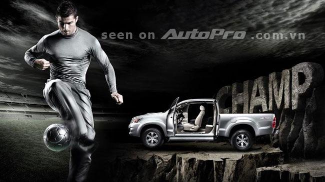 Cristiano Ronaldo bất ngờ quảng cáo xe bán tải - Hình 1