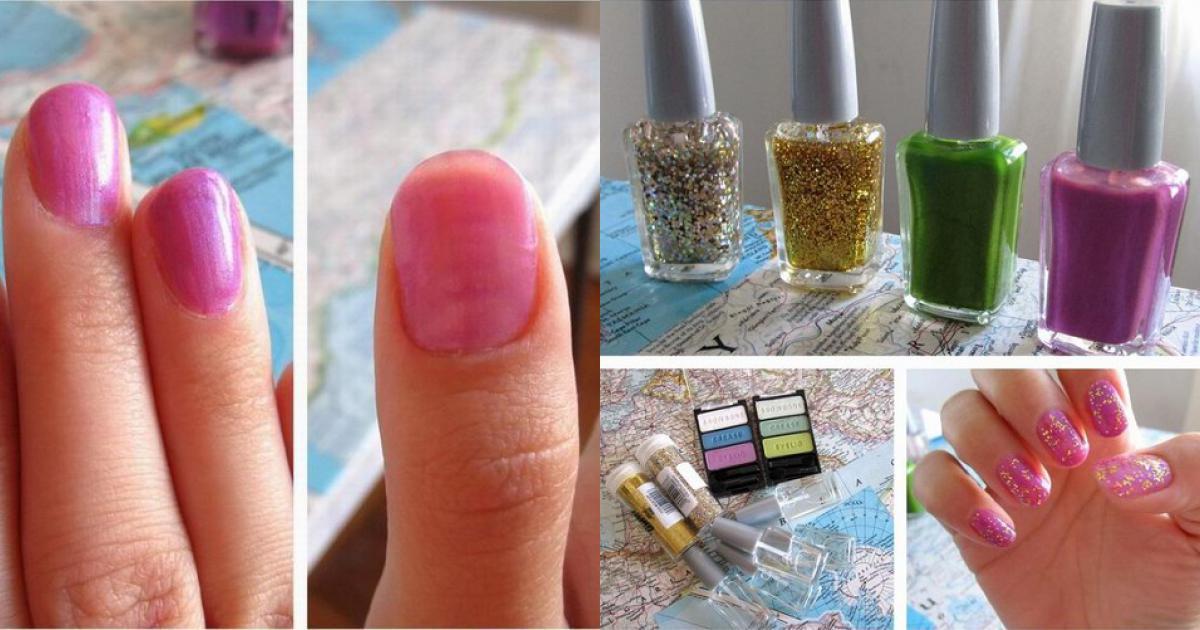 Biến sơn móng tay trong thành có màu