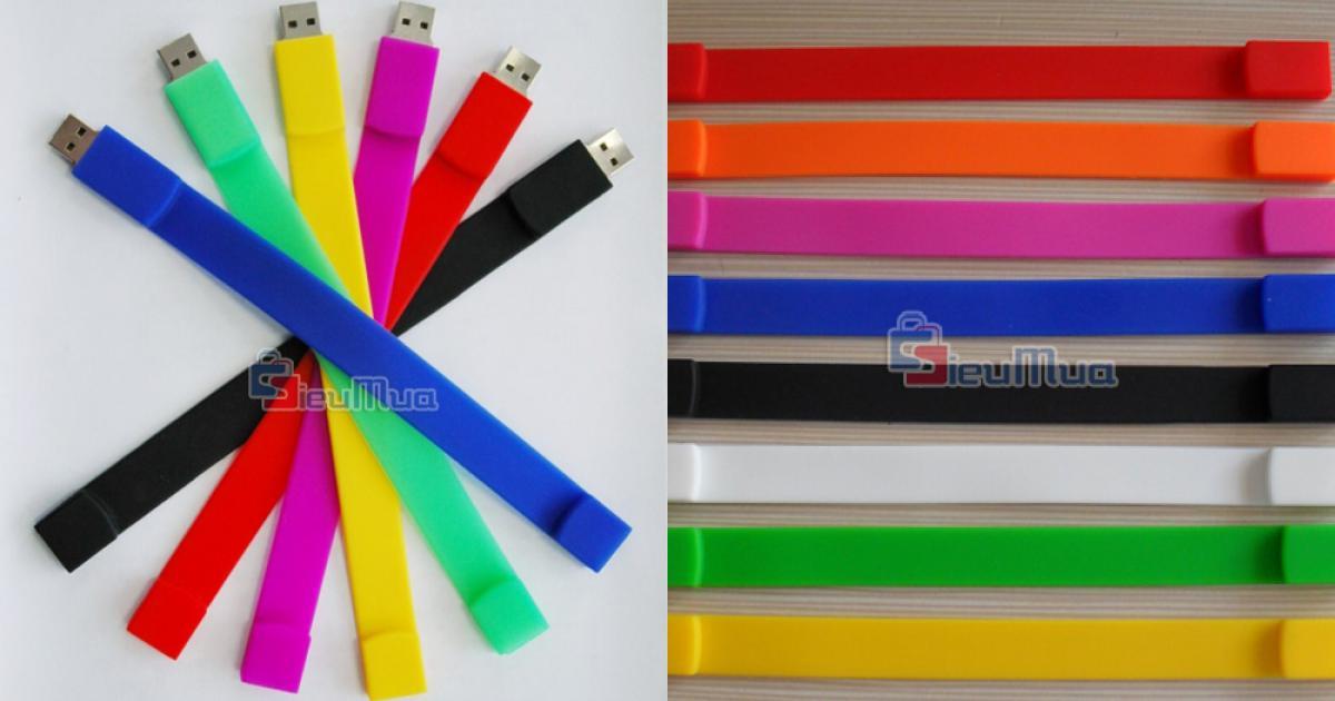 Vòng đeo tay USB 4Gb giá chỉ có 115.000đ, vừa là chiếc USB tiện dụng vừa là vòng đeo tay đầy cá tính.