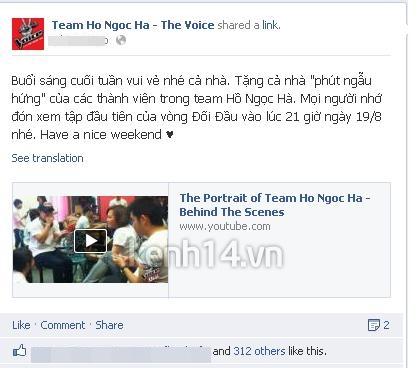 Đội Hà Hồ hát ca tưng bừng trước Giờ G - Hình 1