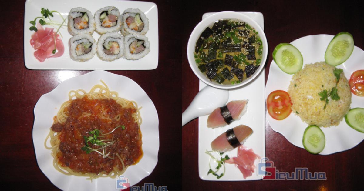 Thỏa sức ăn uống tại Nhà Hàng MV Sushi giá chỉ có 68.000đ, không gian sang trọng; được thiết kế theo kiểu nhà hàng Nhật.