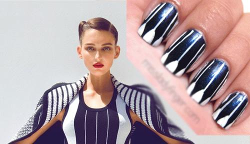 20 mẫu nail sành điệu ton-sur-ton với trang phục - Hình 7