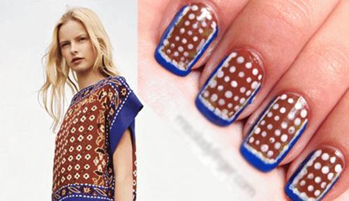 20 mẫu nail sành điệu ton-sur-ton với trang phục - Hình 3