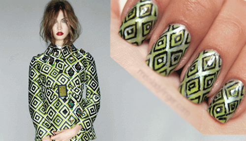 20 mẫu nail sành điệu ton-sur-ton với trang phục - Hình 6
