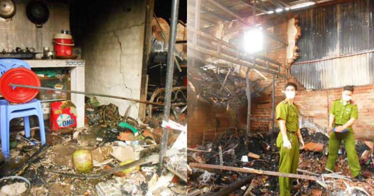 Cháy nhà do chập điện, một phụ nữ tử vong