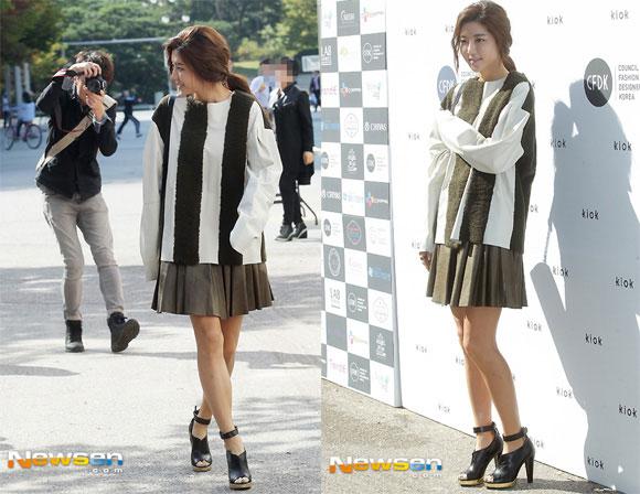 Sao Hàn ăn diện tham dự sự kiện Seoul Fashion Week - Hình 19