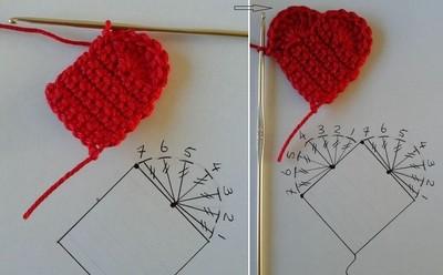 Hướng dẫn móc len hình trái tim siêu xinh mà dễ dàng