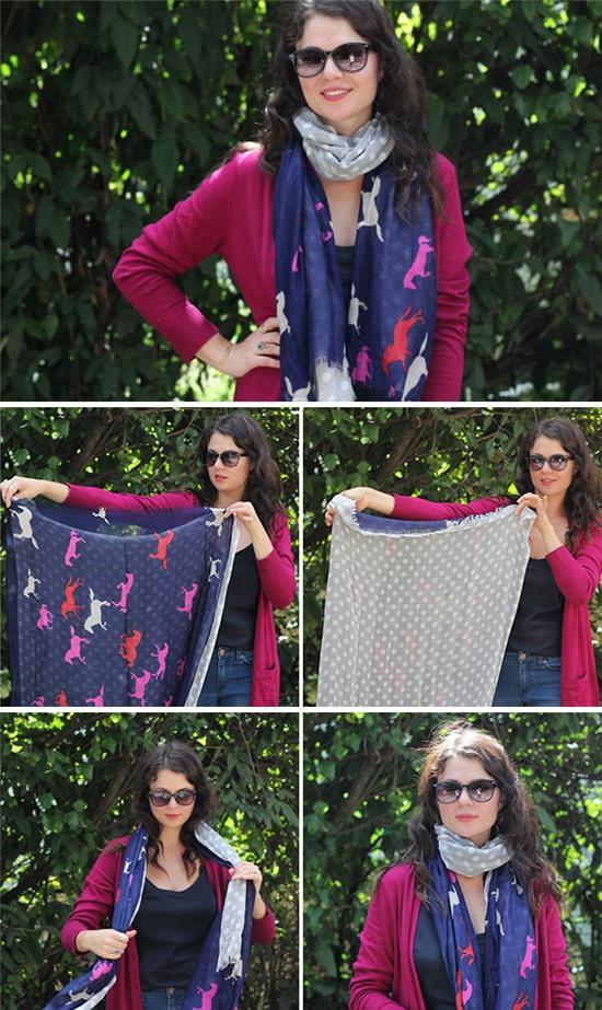 6 kiểu quàng khăn cực yêu ngày lạnh - Hình 4
