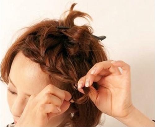 Tết tóc xinh cho cô nàng tóc ngắn - Hình 5