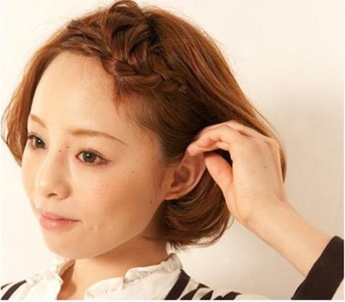 Tết tóc xinh cho cô nàng tóc ngắn - Hình 7