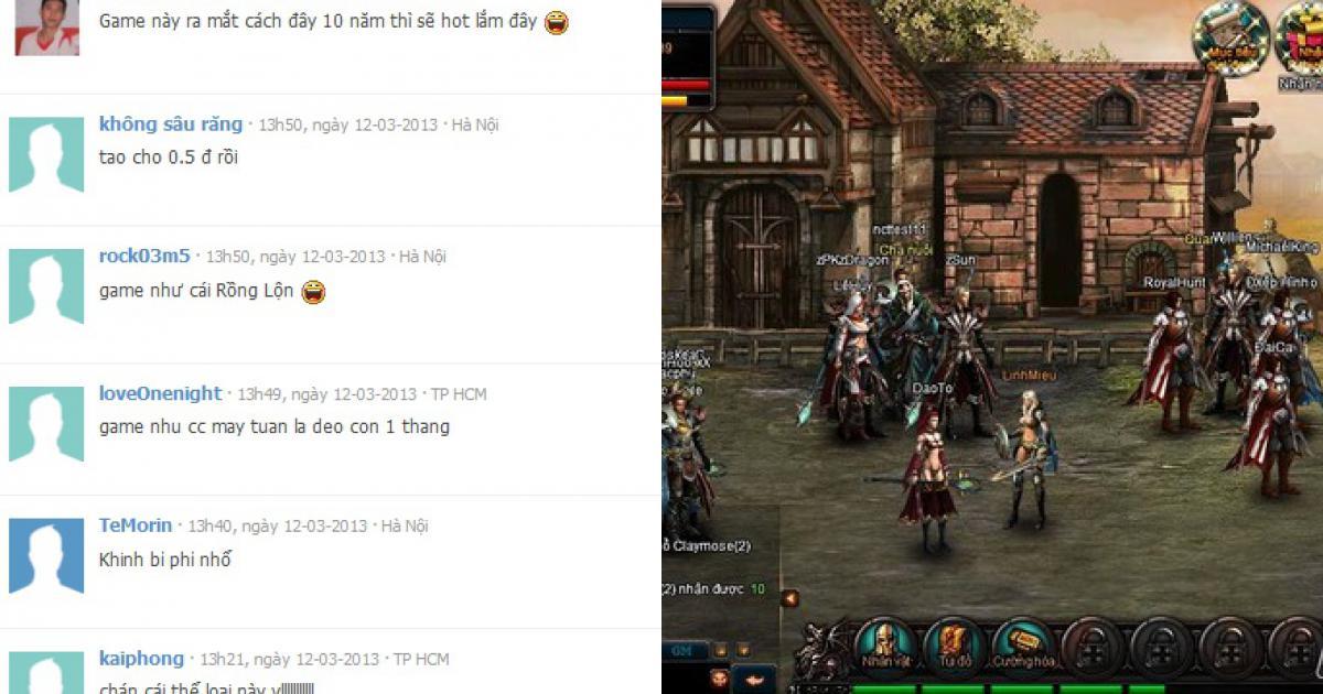 """Webgame """"Rồng"""" chưa tạo được ấn tượng tốt với game thủ Việt"""