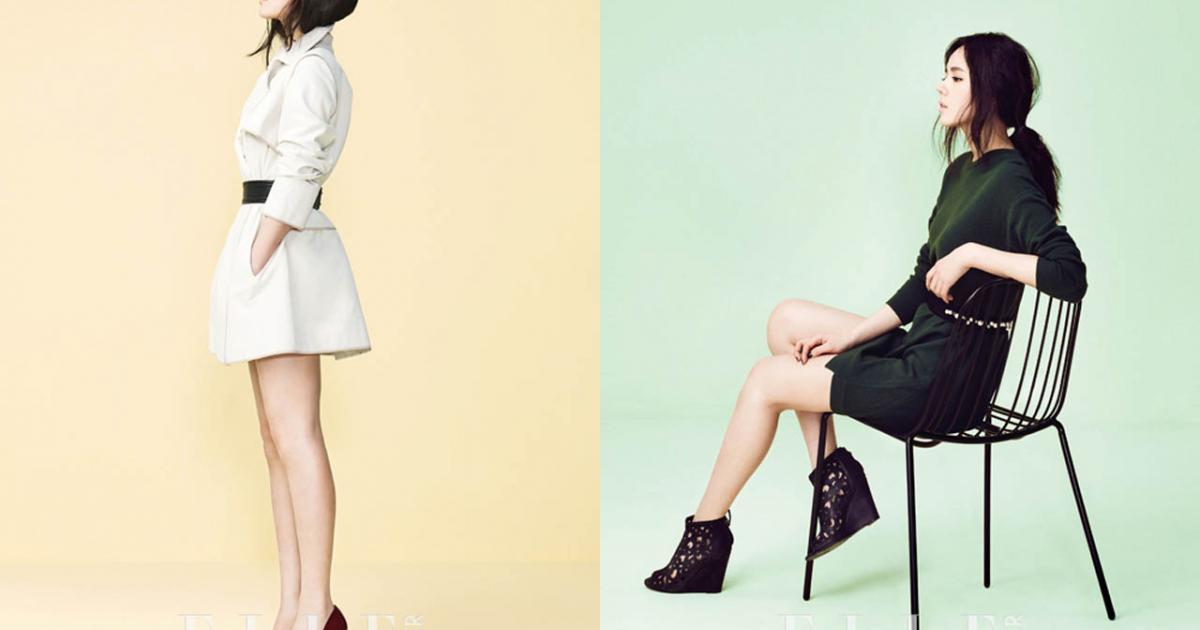 Han Ga In khoe vẻ kiêu kì trên Elle