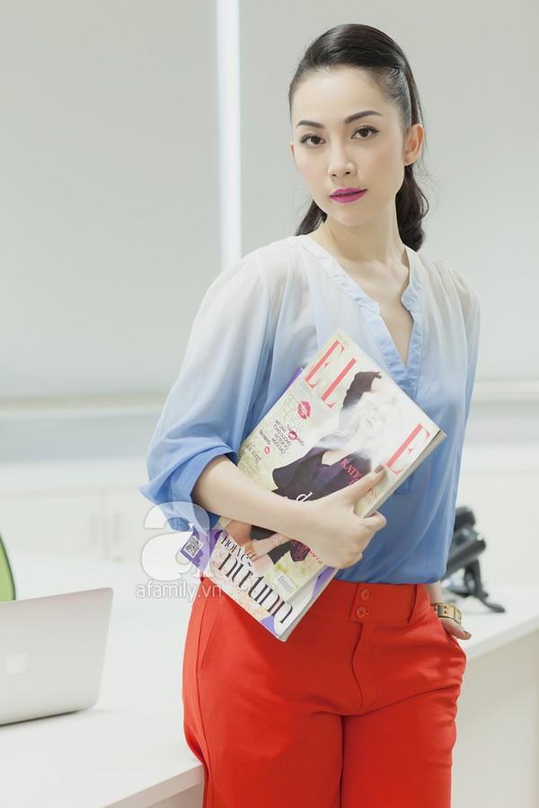 Linh Nga chia sẻ bí quyết phối đồ công sở thanh lịch, trang nhã