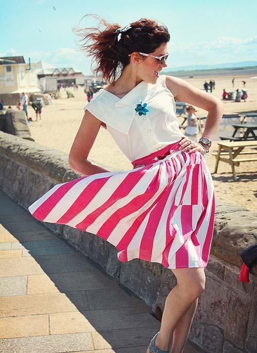 Chân váy hồng ngọt lịm ngày hè - Hình 1