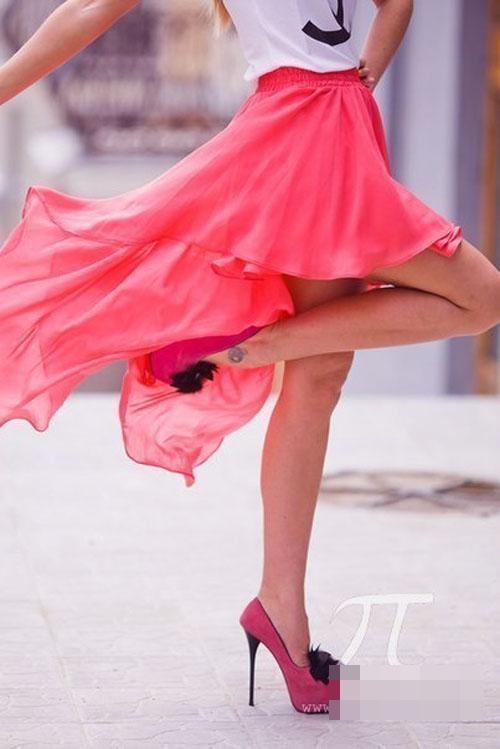 Chân váy hồng ngọt lịm ngày hè - Hình 8