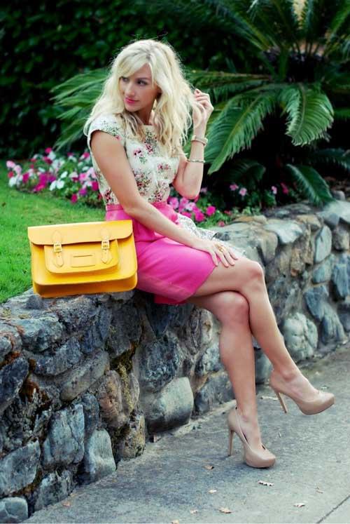 Chân váy hồng ngọt lịm ngày hè - Hình 13