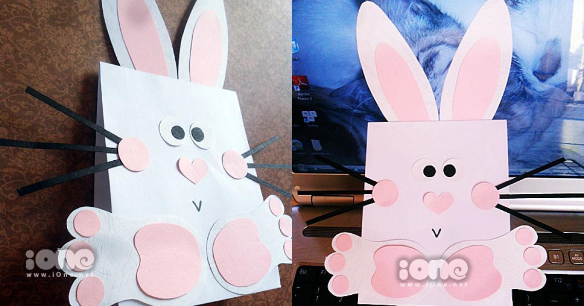 Bọc quà siêu đẹp với túi giấy bé thỏ