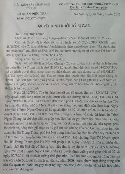 Bài 30: Kỳ án 194 phố Huế: Truy tố bị can Trịnh Ngọc Chung