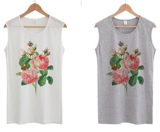 Đẹp lạ với áo thun hoa hồng - Hình 3