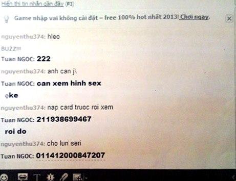 Lừa chat sex kiếm gần 200 triệu đồng loan luan 3