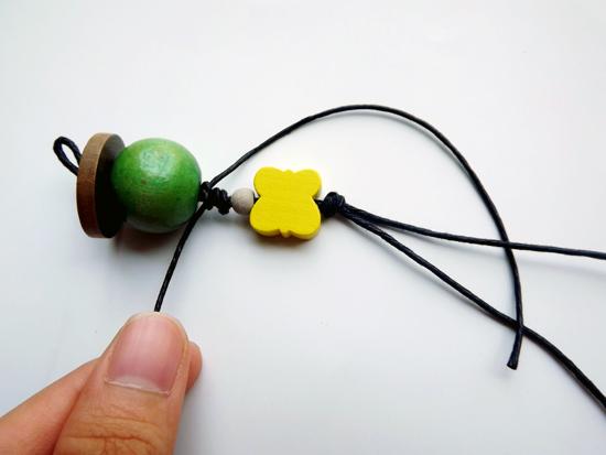 Móc khóa hạt gỗ kute, cực dễ làm