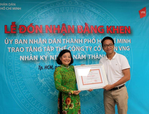 UBND TP.HCM trao Bằng khen tặng Công ty VNG - Hình 1