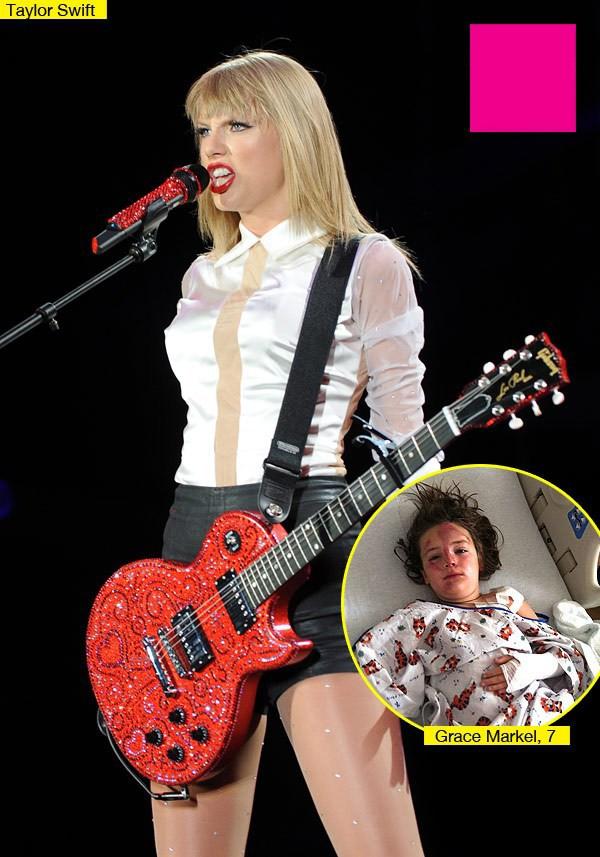 Taylor Swift ghi điểm khi thăm hỏi fan nhí bị đụng xe