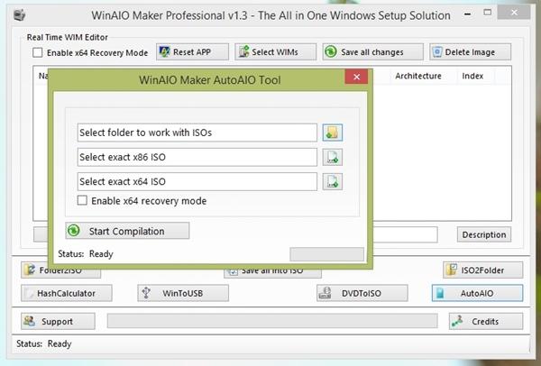 Hướng dẫn tạo tập tin ISO cài đặt Windows All in One