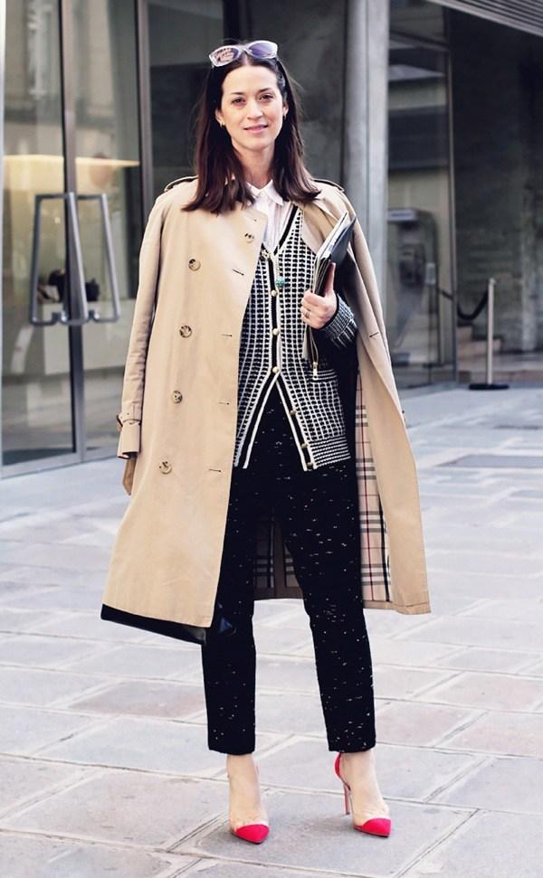 8 chiêu diện áo khoác trench mùa lạnh - Hình 4