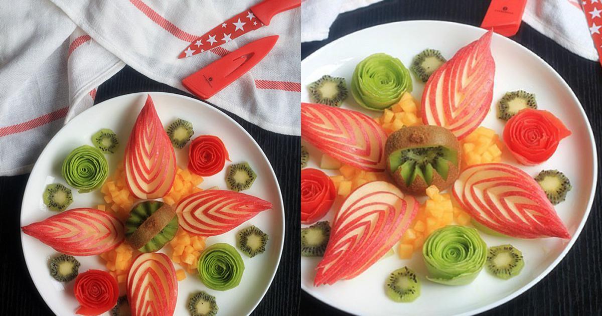 Cách trang trí đĩa trái cây bắt mắt sinh động