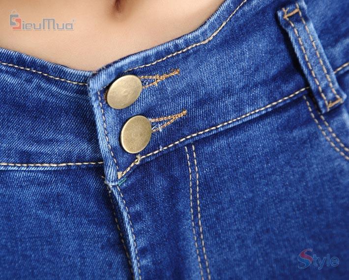 Quần jean nữ lưng gợn sóng
