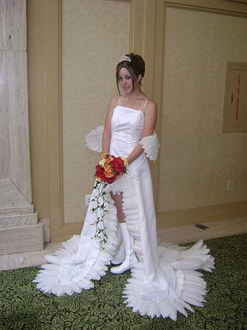 Váy cưới vừa lạ vừa độc
