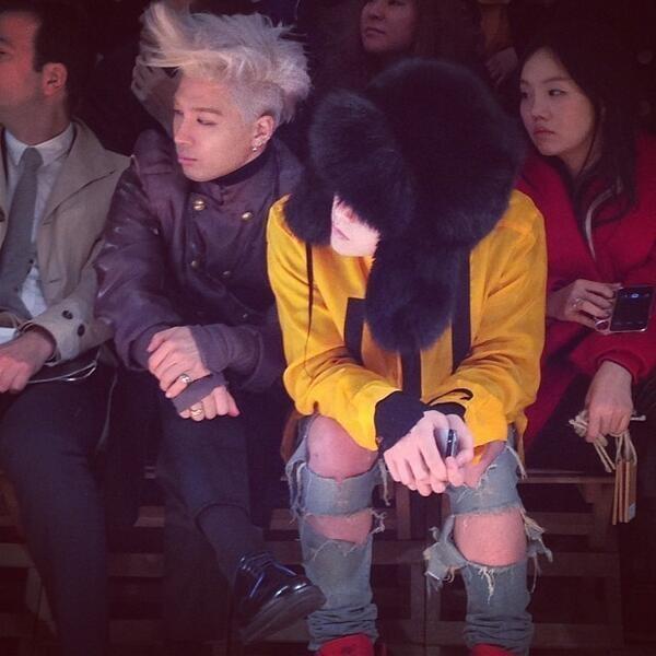G-Dragon và Taeyang trở thành tâm điểm tại Paris Fashion Week