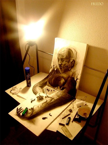 Giật mình những bức tranh 3D siêu thật
