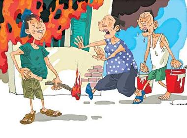 Bi kịch gia đình không biết chữ đốt nhà vì không được cưới vợ free 3