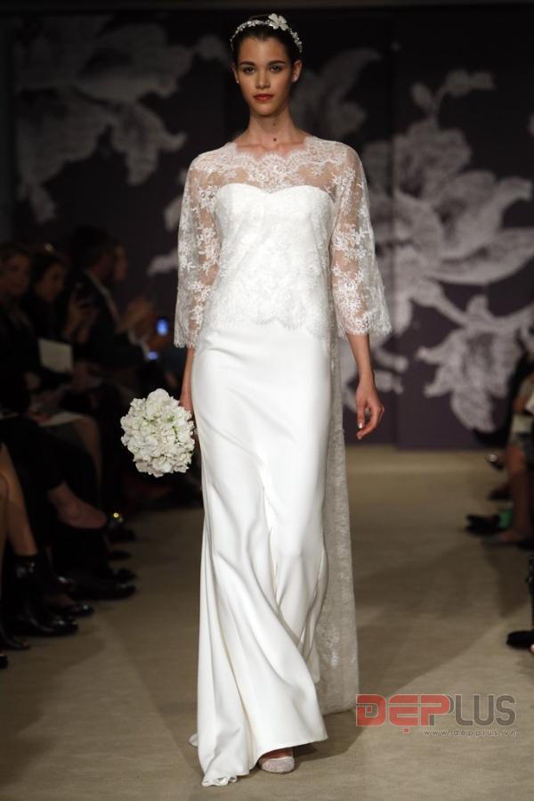 Thanh lịch cùng váy cưới Carolina Herrera Spring 2015 - Hình 1