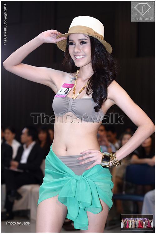 Thí sinh Hoa hậu Hoàn vũ Thái Lan bụng ngấn mỡ, chân cột đình - Hình 1