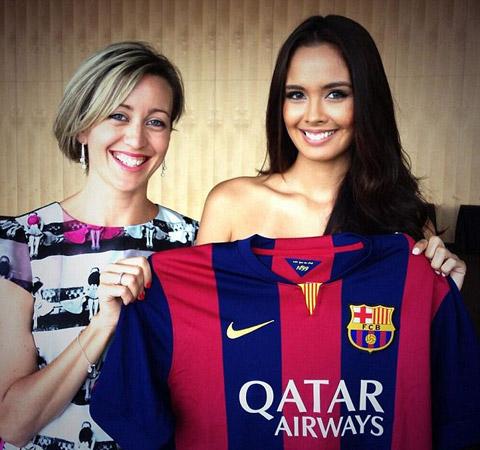 Barca chiêu mộ Miss World 2013 - Hình 3