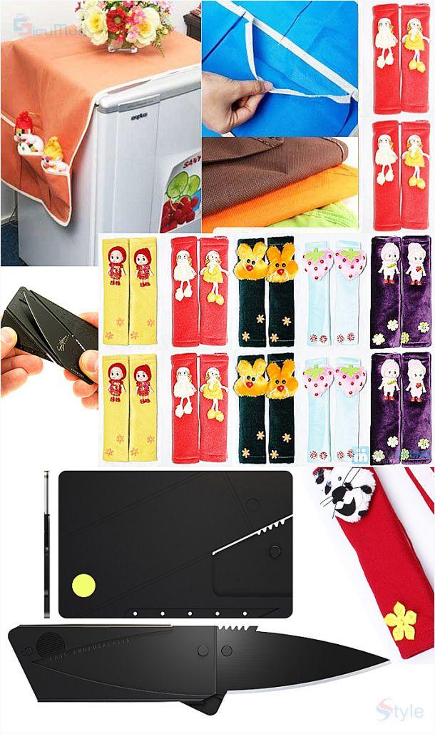 Combo Bao phủ tủ lạnh   Tay cầm tủ lạnh   Dao gấp tiện dụng - Hình 3